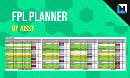 Jossy's FPL Planner