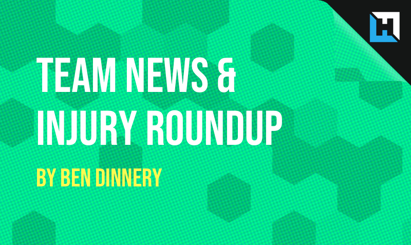 Team News & Injury Roundup by Ben Dinnery –  GW38