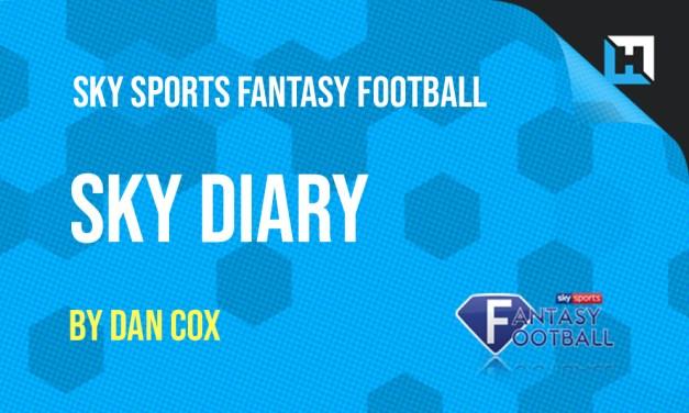 Sky Sports Fantasy Football – Gameweek 6 Diary