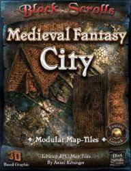 Black Scrolls Medieval Fantasy City Map Tile Pack for Fantasy Grounds