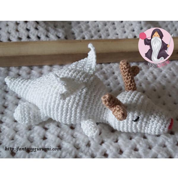 Baby Dragon Amigurumi Pattern - Sueños Blanditos | 600x600
