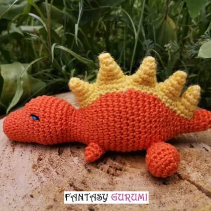 bebe dinosaure orange