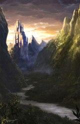 fantasy scenery landscape landscapes breathtaking alayna inspiration deviantart castle mountains concept sci fi nature mountain digital landscaping fantasyinspiration worlds valley