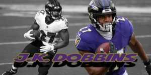 jk dobbins, baltimore ravens, fantasy football