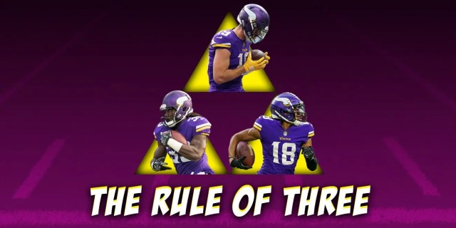 Minnesota Vikings, Rule of Three, Fantasy Football, NFL Trios