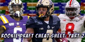 Rookie Draft Cheat Sheet Part 2