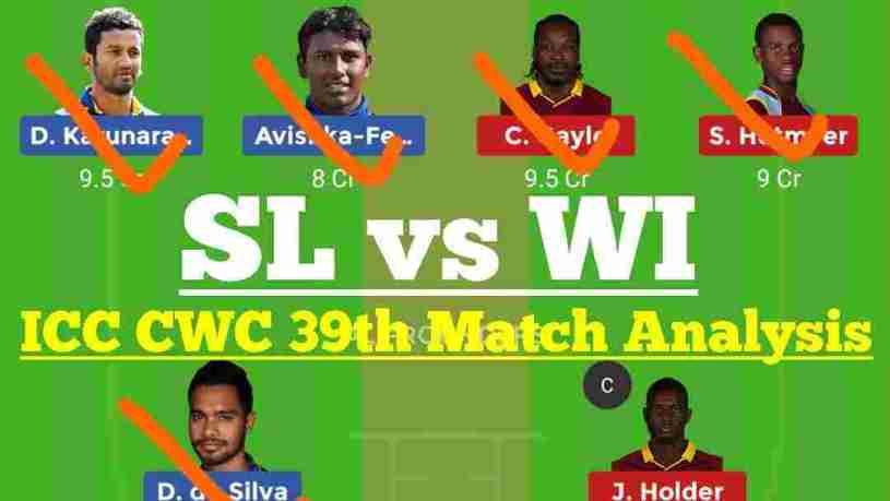 SL Vs WI 39th Match Dream11 Prediction