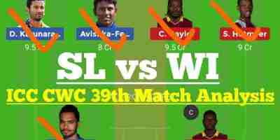 SL Vs WI 39th Match Dream11 Prediction