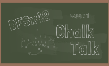 2019 NFL DFS Chalk Talk Week 1