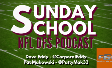 Sunday School NFL DFS Podcast 2019 Week 15