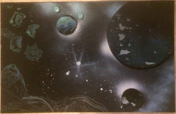 Spray Paintings Online - Fantasy Paint Art
