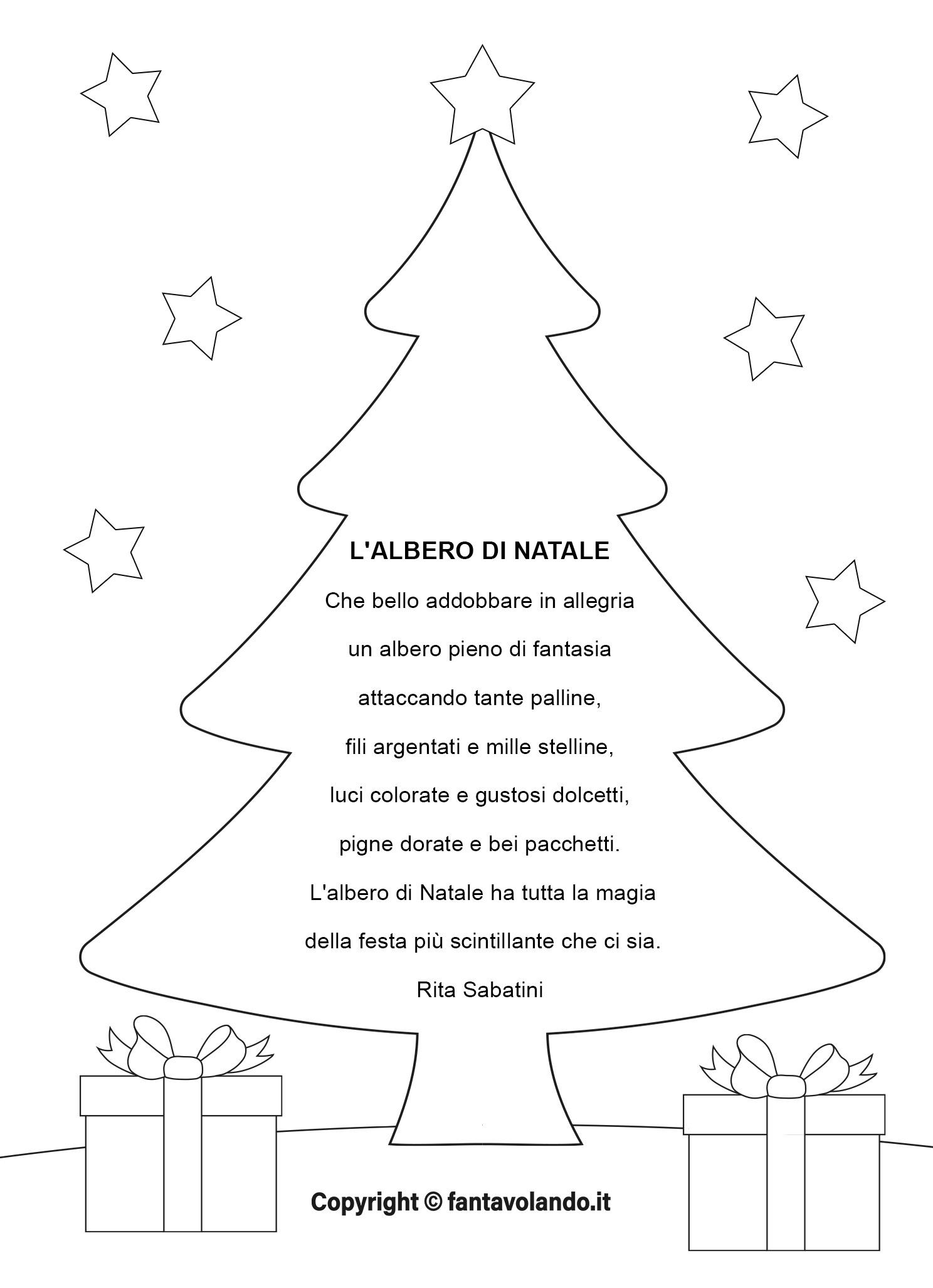 La capacità di memorizzare una poesia. Poesie Per Natale L Albero Di Natale Video Fantavolando