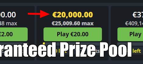 guaranteed prize pool