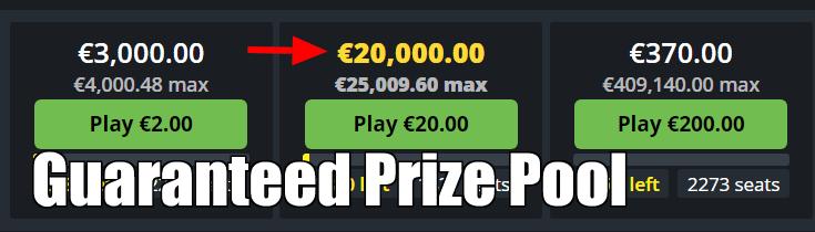 Guaranteed Prize Pool in Fanteam Lobby