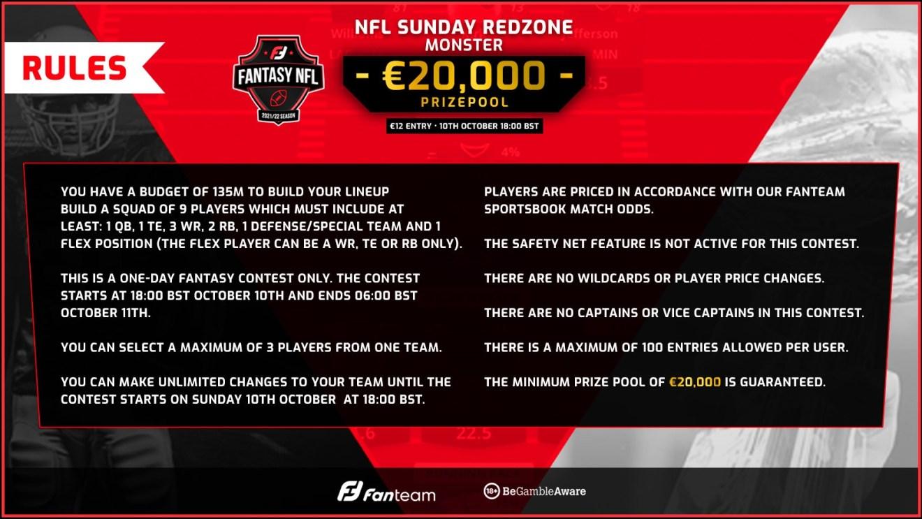 Week 5 Fanteam Weekly NFL Monster
