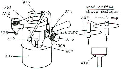 Bellman Cappuccino Maker Parts & Instructions