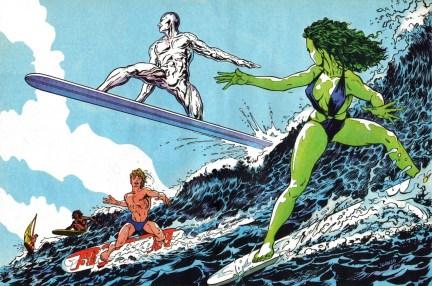 She-Hulk and Silver Surfer