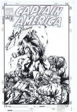 Captain America reprints unpublished cover