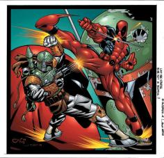 Boba Fett vs Deadpool by Ed McGuinness