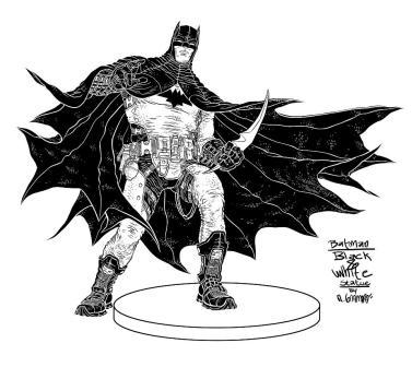 Design for a Batman Black & White Statue