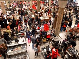 Crowd at Macy's on Black Friday