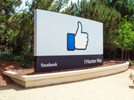 Sign outside facebook office