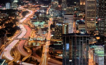 City of Atlanta at night