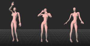 3d model of attractive dancing