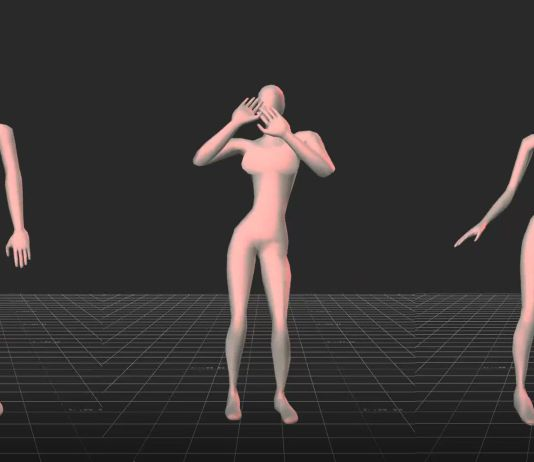 3d model of attractive dancing