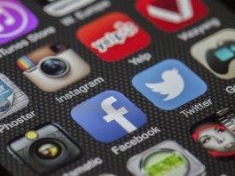 Facebook app displayed on phone