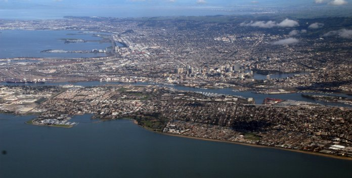 aerial photo of the san francisco bay area