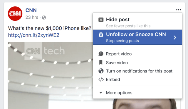 new facebook feature allows you to temporarily snooze friends from your feed