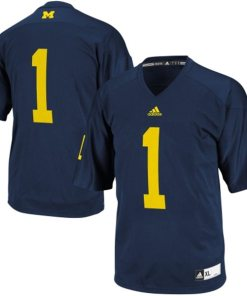 Adidas NCAA Michigan Wolverines #1 Football Premier Team Color Jersey