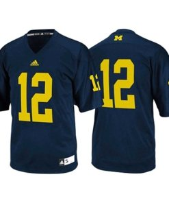Adidas NCAA Michigan Wolverines #12 Football Premier Team Color Jersey