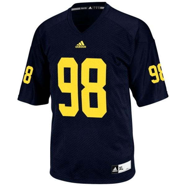 01efa67410df6 Adidas NCAA Michigan Wolverines  98 Football Premier Team Color Jersey Front