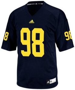 Adidas NCAA Michigan Wolverines #98 Football Premier Team Color Jersey Front