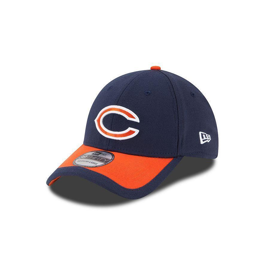 29dc54c1d Adult Chicago Bears New Era NFL Navy Sideline 39THIRTY Flex Hat - L ...