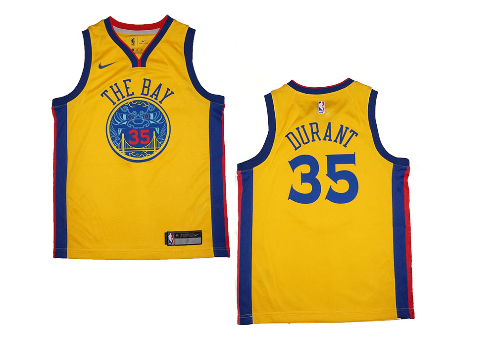 best service 5dd81 37c33 Youth Nike NBA Golden State Warriors #35 Kevin Durant Chinese Heritage