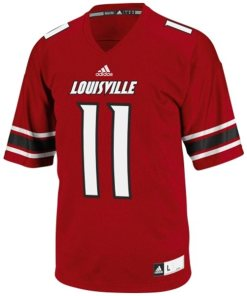 Adidas NCAA Louisville Fighting Irish Louvil #11 Football Premier Team Color Jersey Front