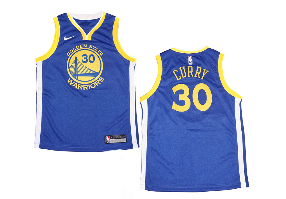new styles c8f99 7758e Youth Nike NBA Golden State Warriors #30 Stephen Curry Blue Swingman Jersey  | Fanwears