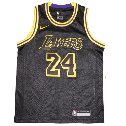 db6d166b1 Youth Nike NBA Los Angeles Lakers  24 Kobe Bryant Black Swingman ...