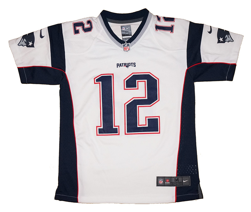 more photos e2054 0341d Youth Nike New England Patriots #12 Tom Brady NFL White Game ...