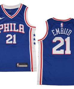 huge discount 0af5b 88e98 Youth Nike Philadelphia 76ers #21 Joel Embiid Royal Blue ...