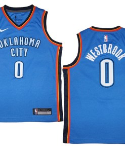 purchase cheap 514b6 711c2 Youth Nike OKC Thunder #0 Russell Westbrook Blue Swingman ...