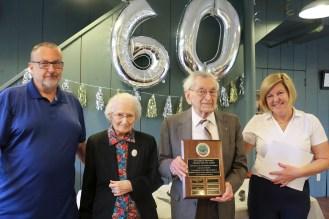 Bob receives plaque