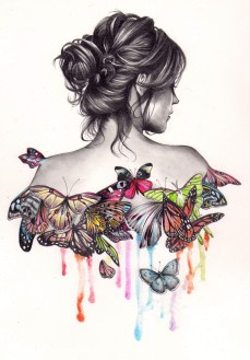 Kate Powell- Butterfly girl- Like art could save the world