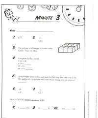 Math Minute Worksheet Free Worksheets Library