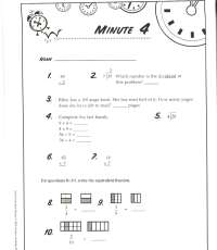 Math Minute Worksheets Day 62. Math. Best Free Printable
