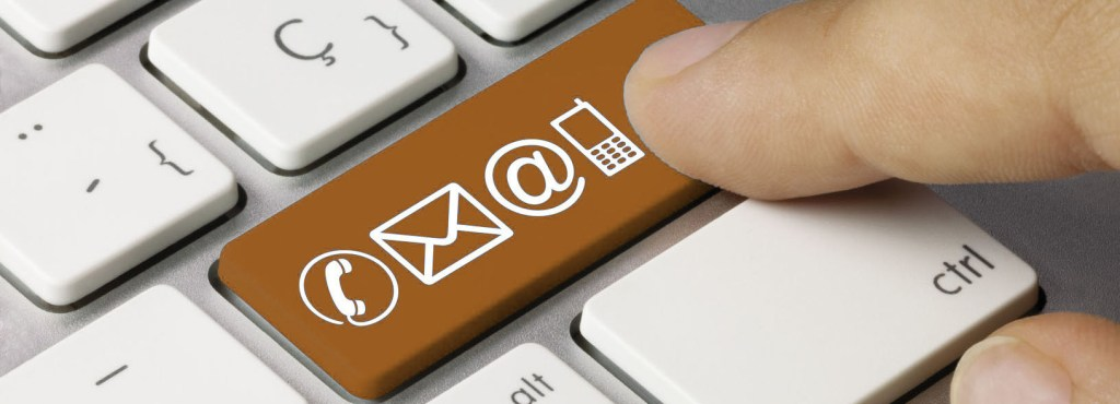 Contact us. Keyboard. Finger