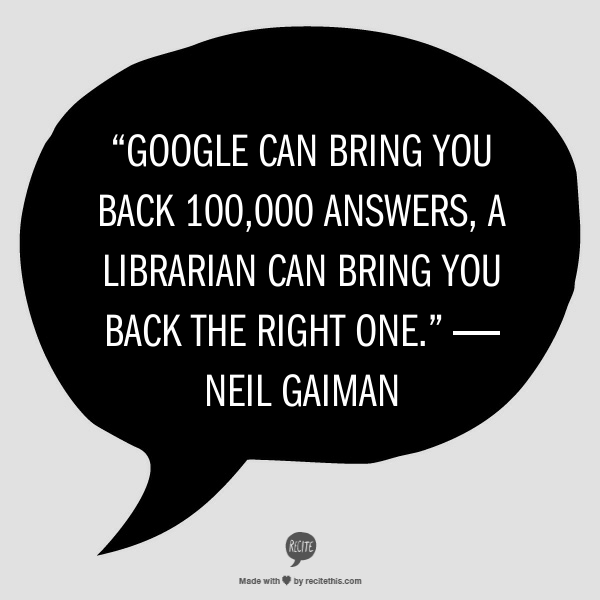Image result for neil gaiman library quote
